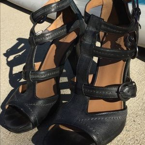 EUC grey gladiator sandals